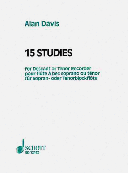 15 Studies for Soprano or Tenor Recorder