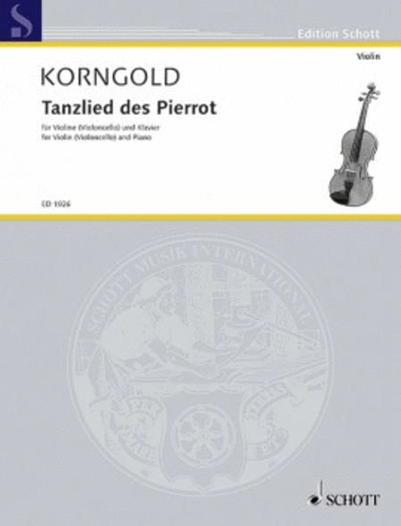 Tanzlied des Pierrot from Die tote Stadt Op. 12