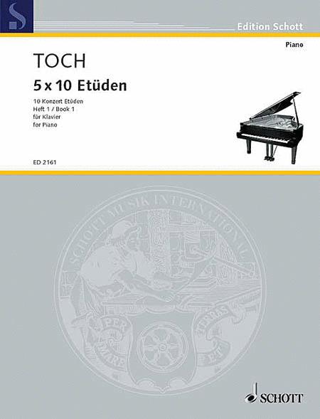 10 Concert Etudes Nos. 1-5, Op. 55