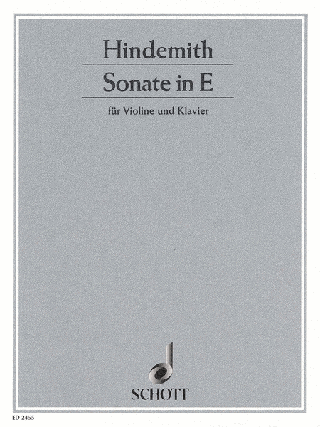 Sonata E Major (1935)