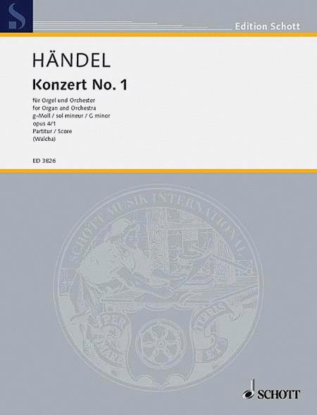 Organ Concerto 1 Op. 4, No. 1 G Minor