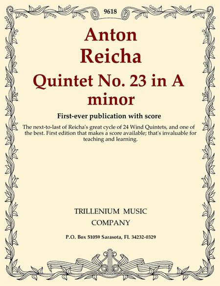 Quintet No. 23 in A minor