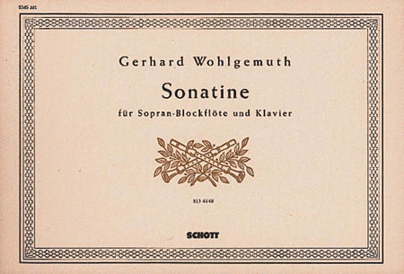 Sonatina for Descant Recorder and Piano