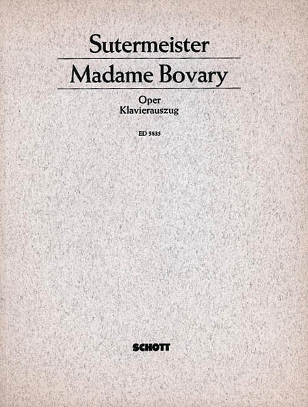 Madame Bovary Vocal Score