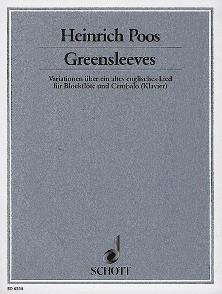Greensleeves Variations Rec/hpschd