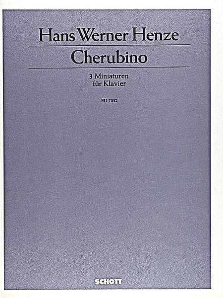 Cherubino/3 Miniatures For Piano