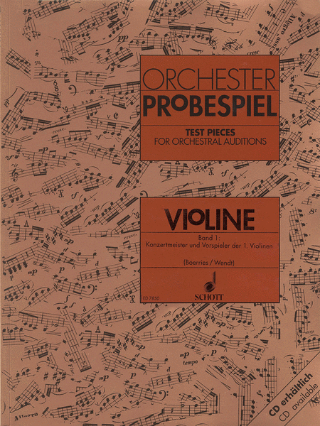 Test Pieces for Orchestral Auditions - Violin Volume 1