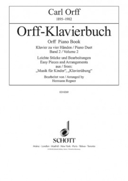 Orff Piano Duet Book Volume 2