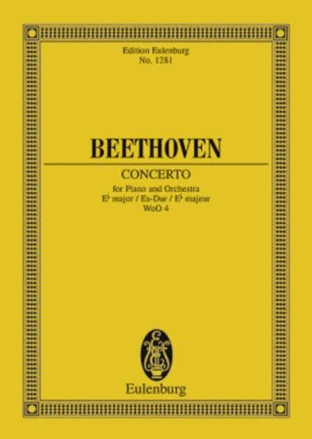 Concerto in E-flat Major, WoO 4 for Piano and Orchestra