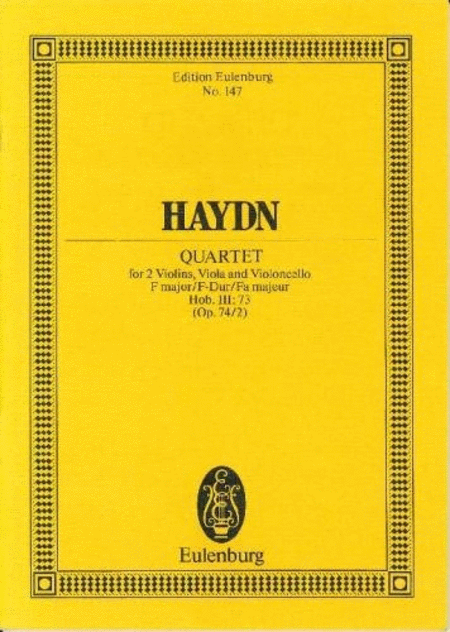 String Quartet in F Major, Op. 74/2, Hob.III:73