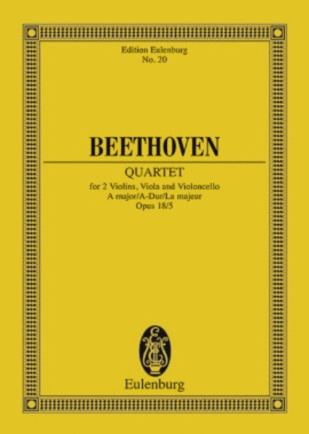 String Quartet in A Major, Op. 18/5