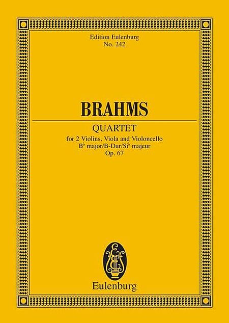 String Quartet in B-flat Major, Op. 67