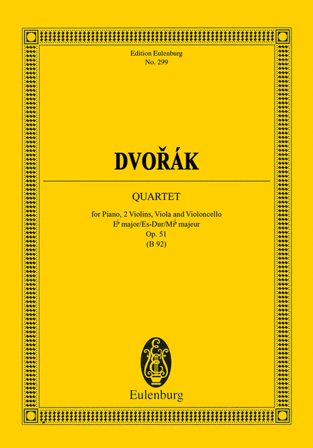 String Quartet in E-Flat Major, Op. 51, B 92