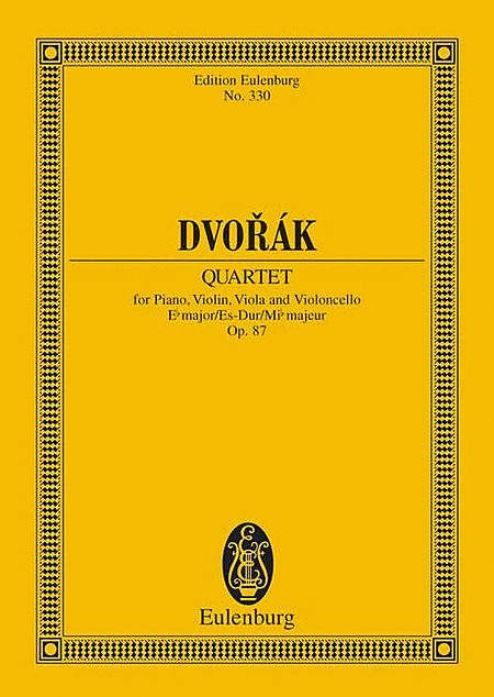 Piano Quartet in E-flat Major, Op. 87