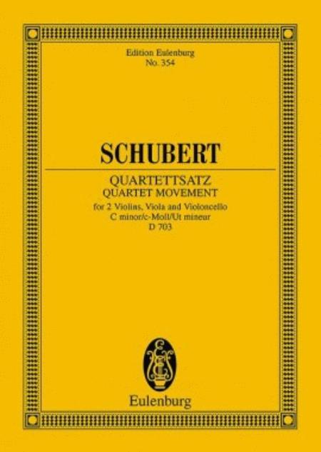 String Quartet in C minor, D. 703