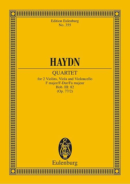 String Quartet in F Major, Op. 77/2, Hob.III:82