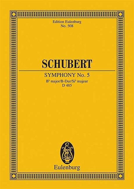 Symphony No. 5 in B-flat Major, D 485
