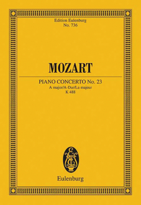 Piano Concerto No. 23 in A Major, K. 488