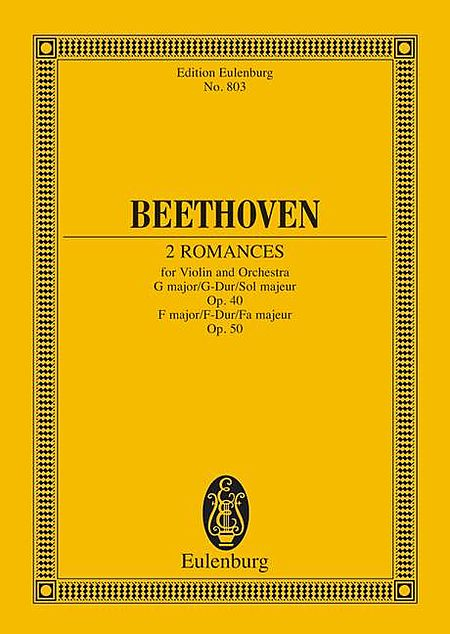 Two Romances for Violin and Orchestra