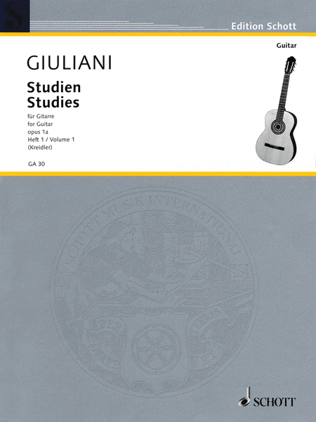Studies for Guitar, Op. 1a - Volume 1