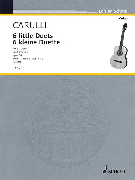 Six Little Guitar Duets, Op. 34