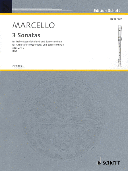 6 Sonatas, Op. 2, Volume 1 (1-3)