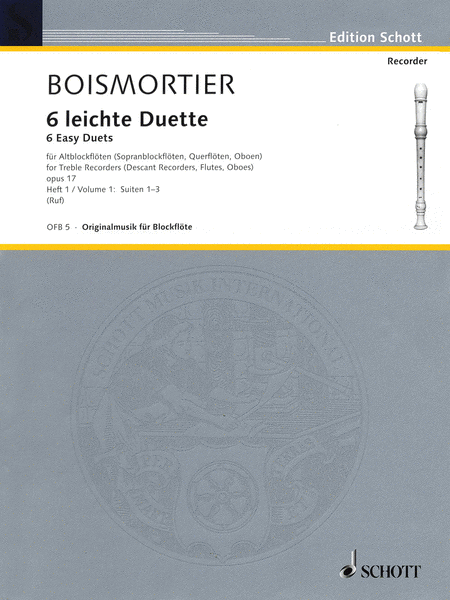 6 Easy Duets: Suites 1-3, Op. 17, Volume 1