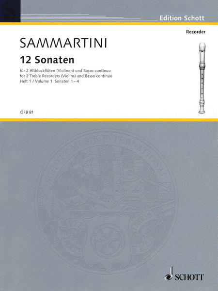12 Sonatas, Volume 1