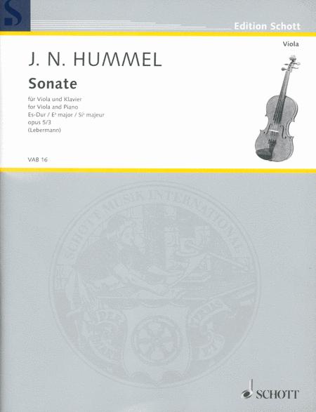 Viola Sonata in E-flat Major, Op. 5/3