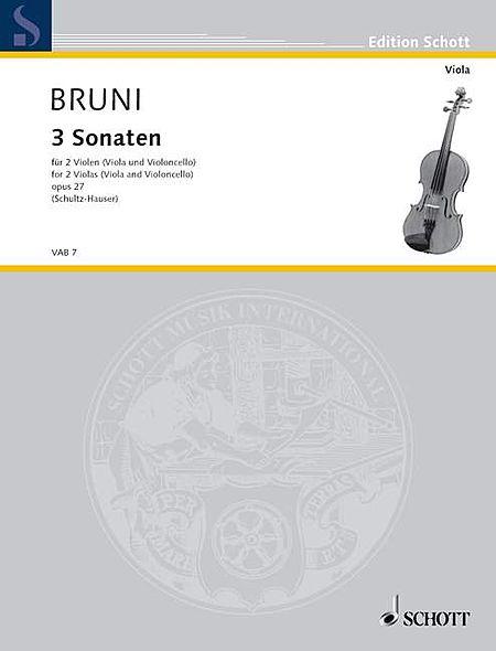 3 Sonatas, Op. 27