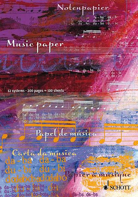 Music Paper - 12 System (100 Sheets)