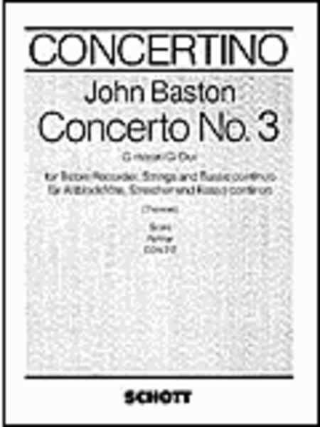 Recorder Concerto No. 3 in G Major