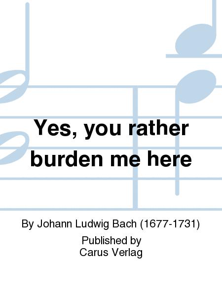 Yes, you rather burden me here (Ja, mir hast du Arbeit gemacht)