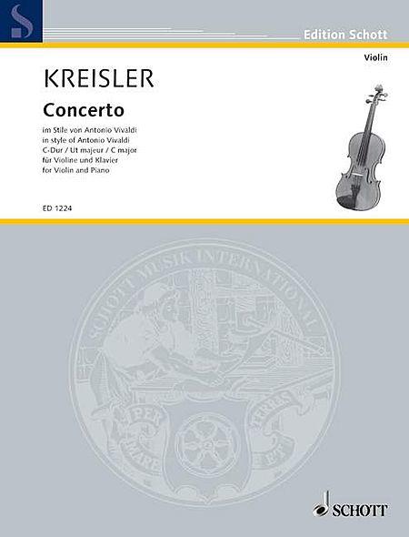 Kreisler Concerto Cmaj Vln Pft.red