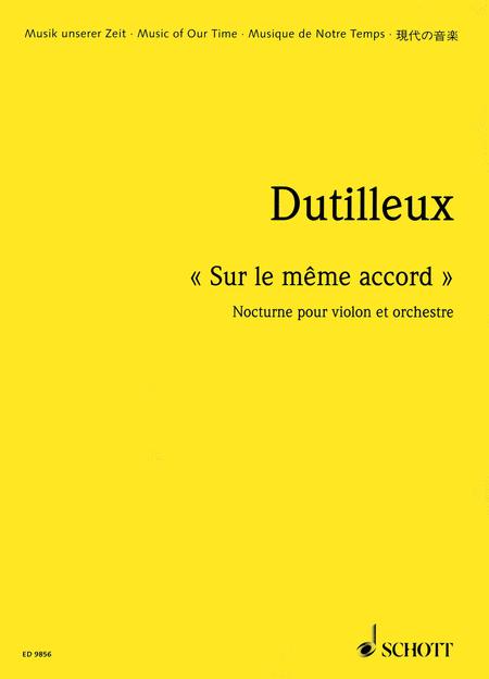 Sur le meme accord - Nocturne for Violin and Orchestra