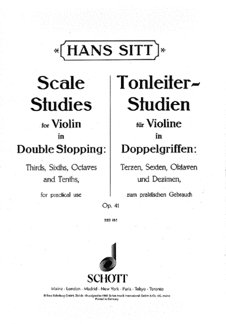 Scales Studies For Violin in Double Stopping, Op. 41