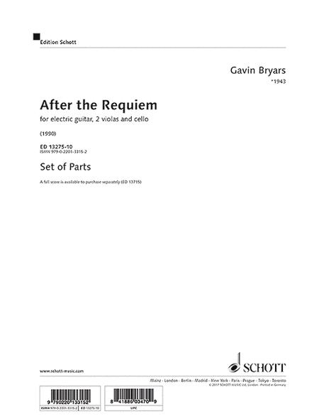 Bryars After The Requiem Score & Parts