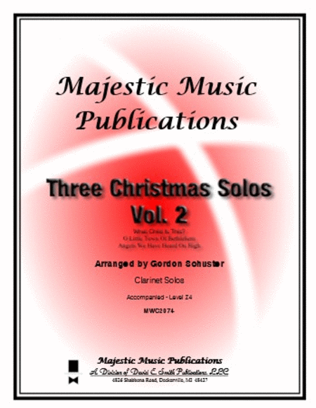 Three Christmas Solos for Clarinet Volume 2
