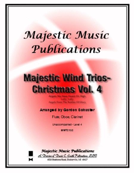 Majestic Wind Trios - Christmas, Volume 4