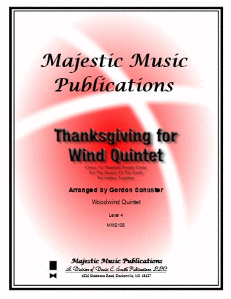 Thanksgiving for Wind Quintet