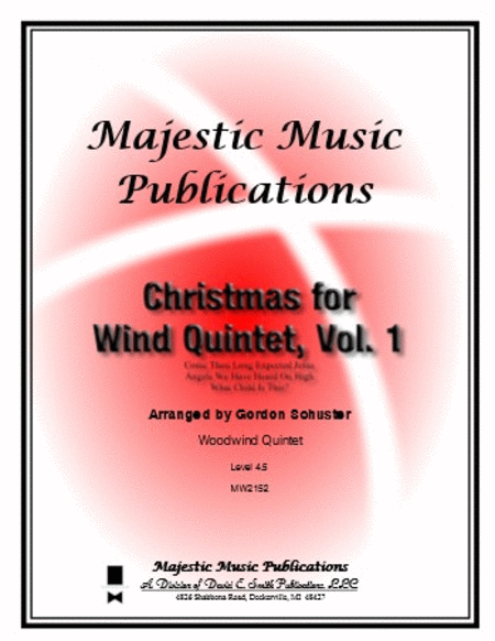 Christmas for Wind Quintet, Volume 1