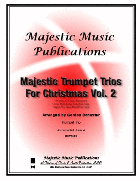 Majestic Trumpet Trios For Christmas Volume 2