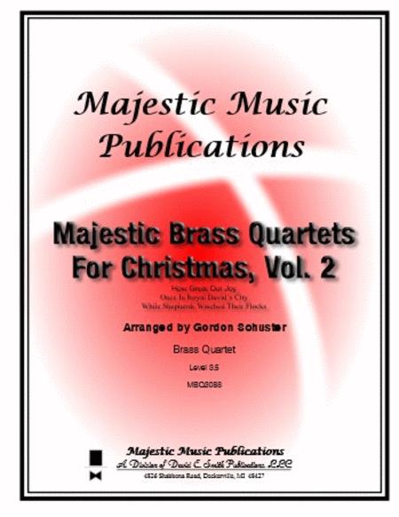 Majestic Brass Quartets for Christmas, Volume 2
