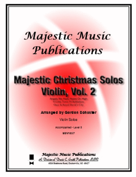Majestic Christmas Solos - Violin, Volume 2