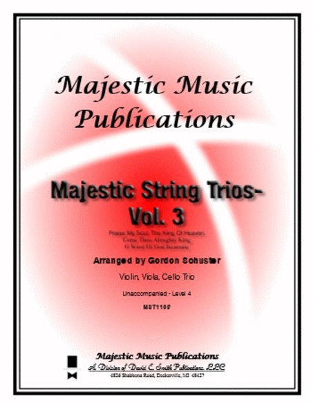 Majestic String Trios, Volume 3