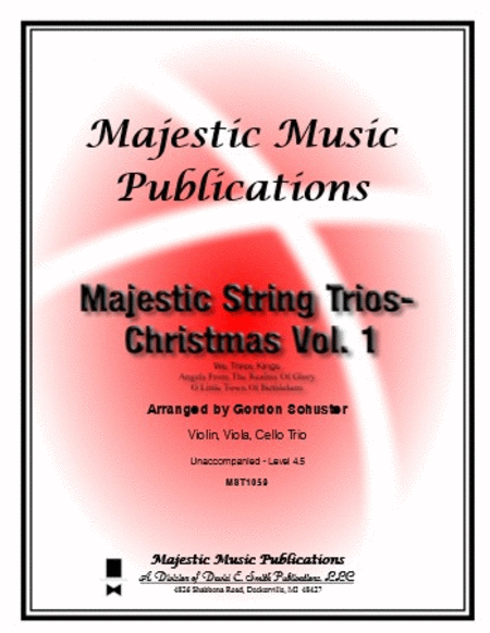Majestic String Trios - Christmas Volume 1