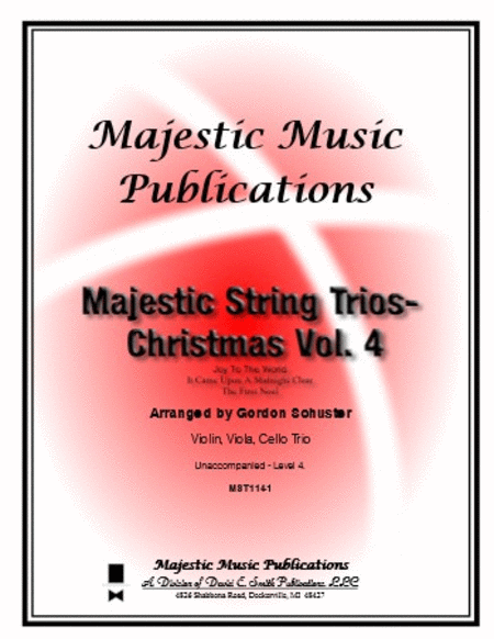 Majestic String Trios - Christmas Volume 4