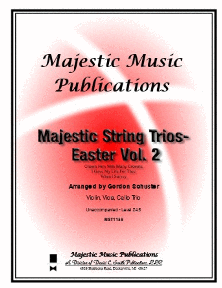 Majestic String Trios - Easter Volume 2