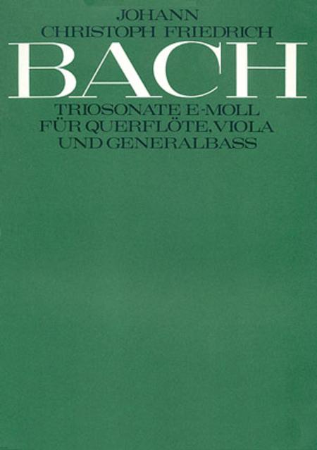 Trio Sonata in E minor (Triosonate in e)