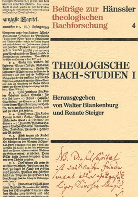 Theologische Bach-Studien I